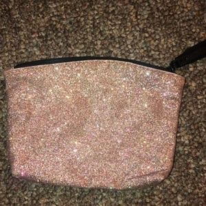 Very new never used pink sparkly makeup bag